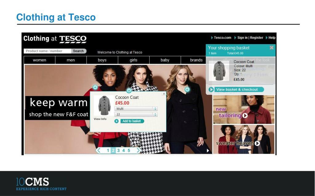 Clothing at Tesco