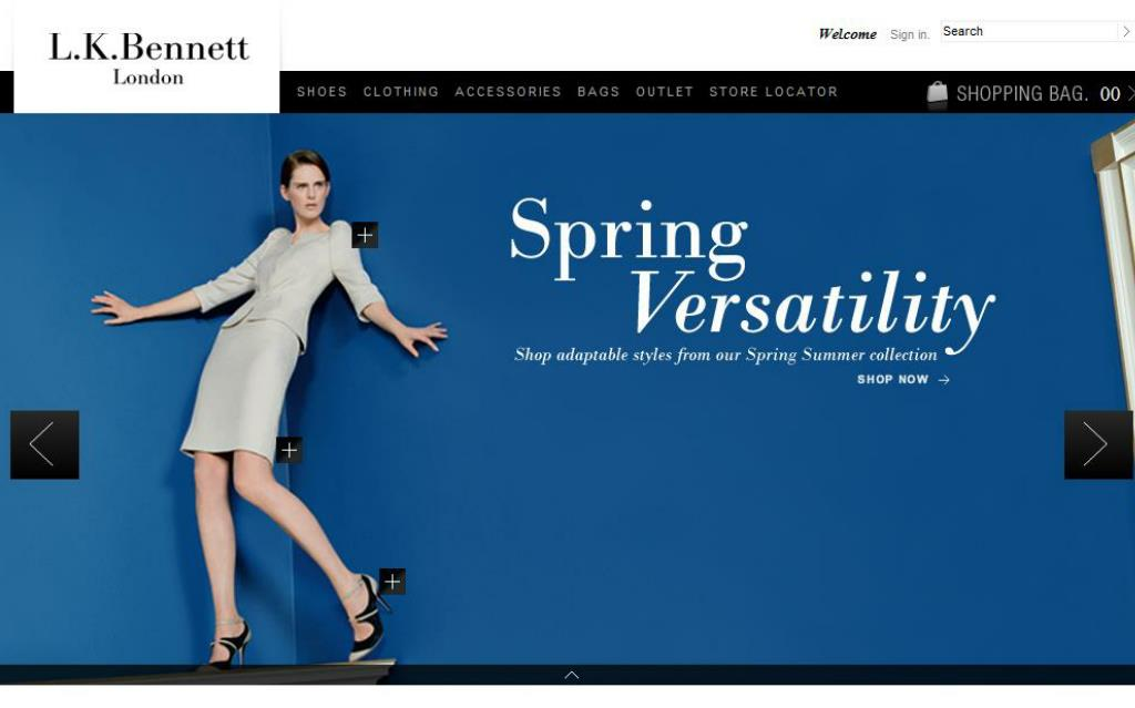 The new LK Bennett Site – switch to browser