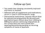 follow up care