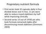 proprietary nutrient formula51