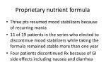 proprietary nutrient formula52
