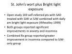 st john s wort plus bright light exposure