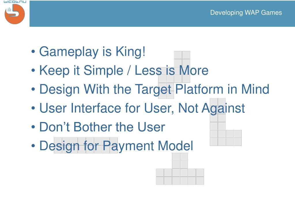Developing WAP Games
