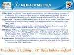 1 media headlines