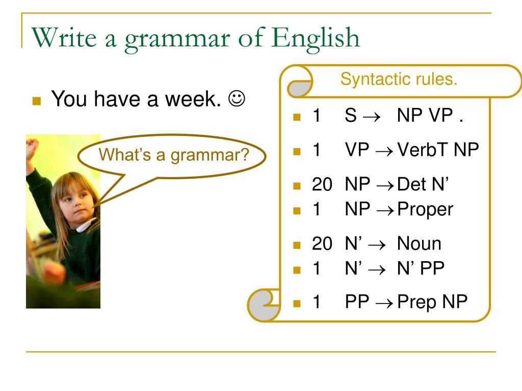 What's a grammar?