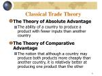 classical trade theory