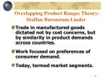 overlapping product ranges theory staffan burenstam linder