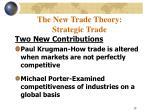 the new trade theory strategic trade