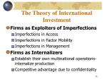 the theory of international investment26
