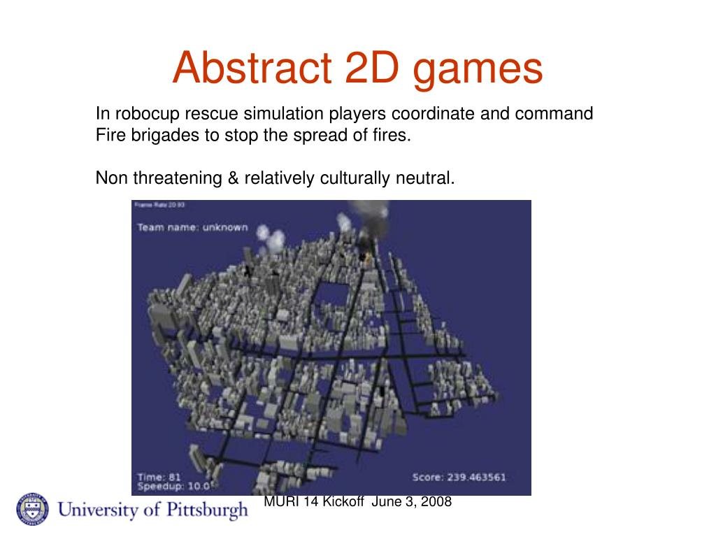 Abstract 2D games