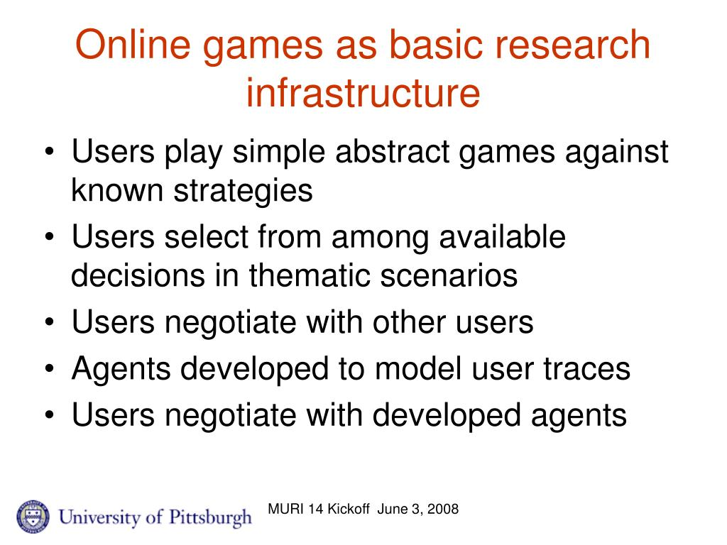 Online games as basic research infrastructure