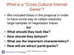 what is a cross cultural internet game