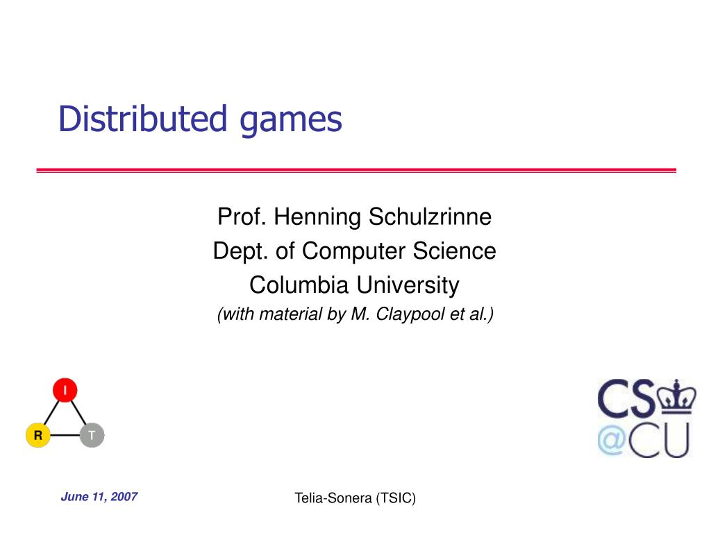 distributed games