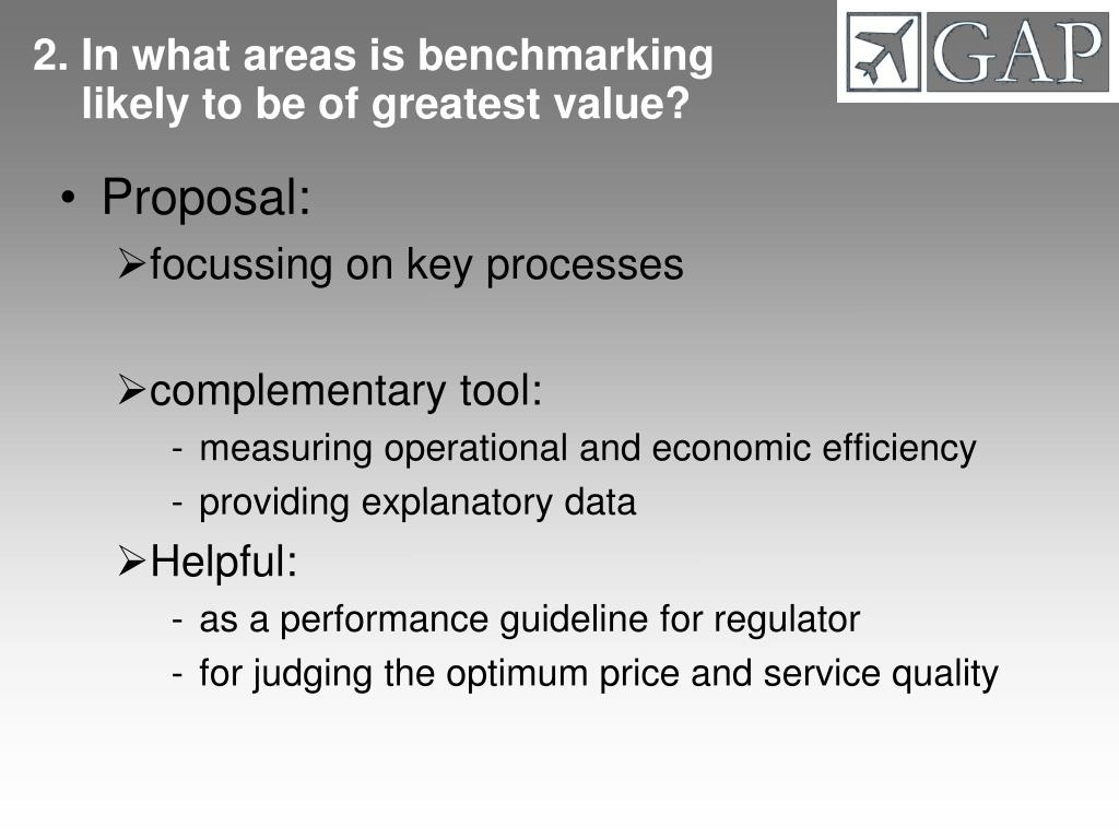 2. In what areas is benchmarking