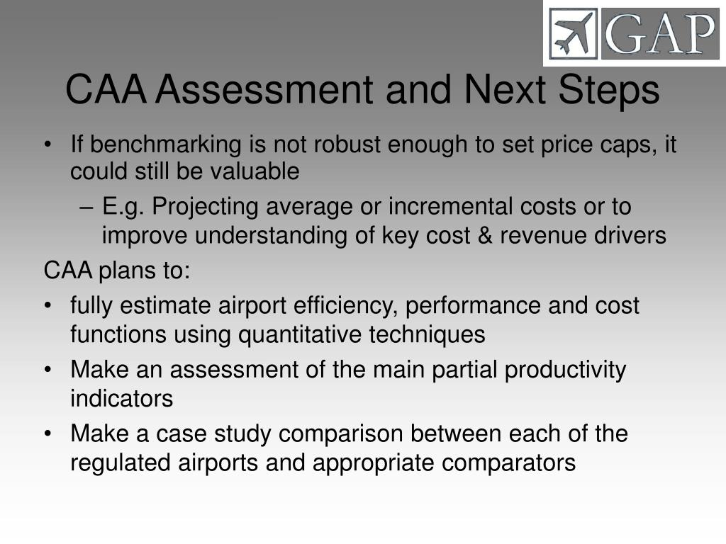 CAA Assessment and Next Steps