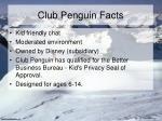 club penguin facts