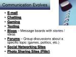 communication evolves