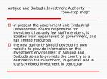 antigua and barbuda investment authority one stop shop