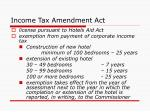 income tax amendment act