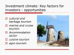 investment climate key factors for investors opportunities