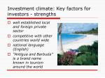investment climate key factors for investors strengths2