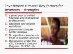 investment climate key factors for investors strengths3