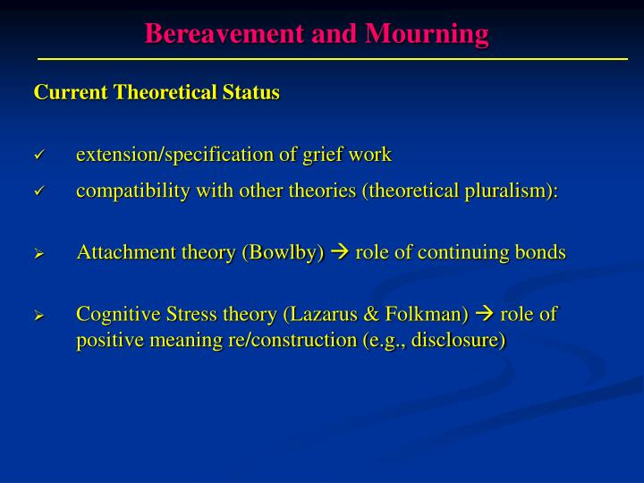 attachment theory and bereavement