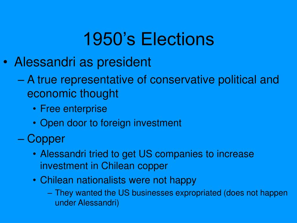 1950's Elections