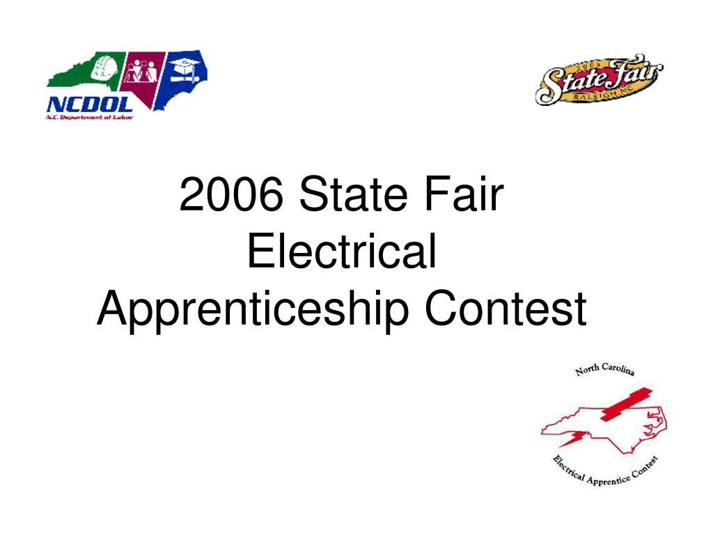 2006 state fair electrical apprenticeship contest
