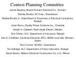 contest planning committee