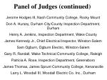 panel of judges continued