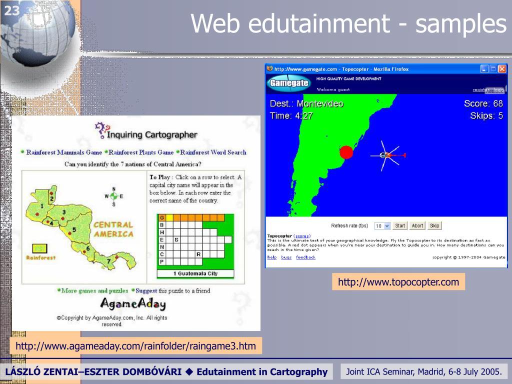 Web edutainment - samples