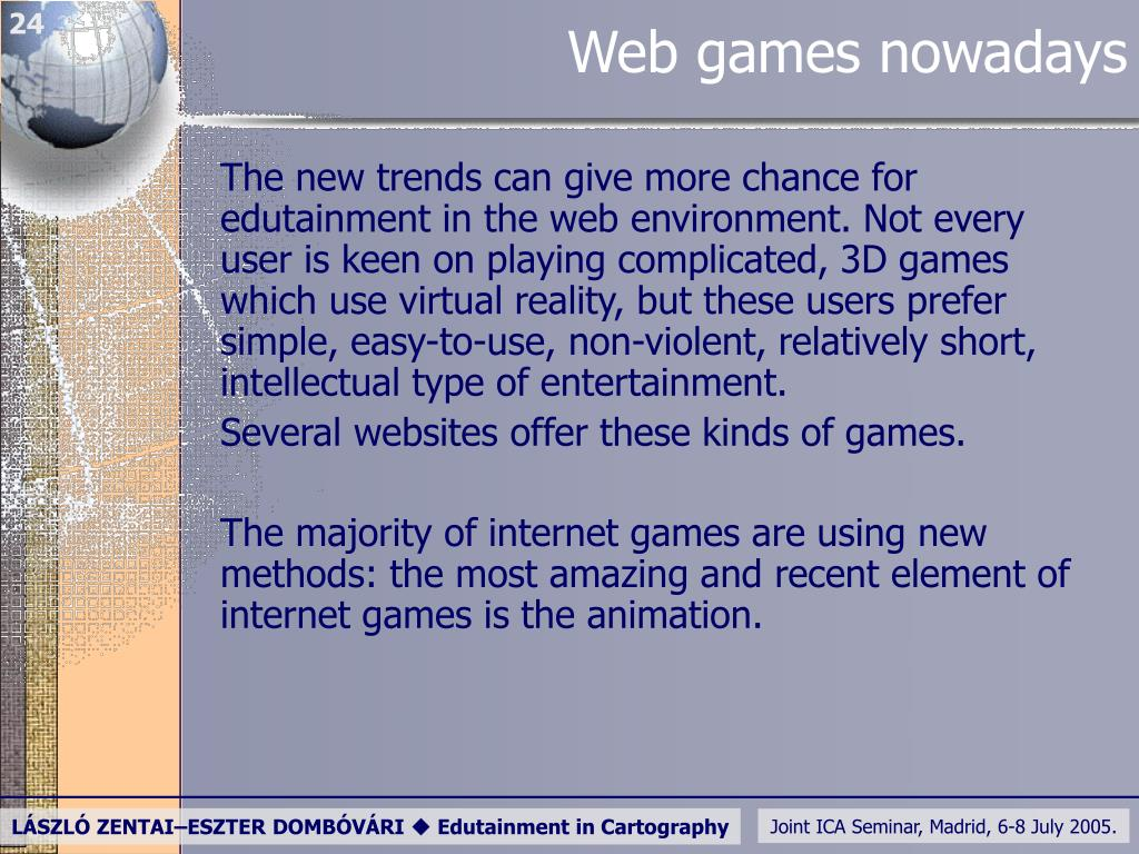 Web games nowadays