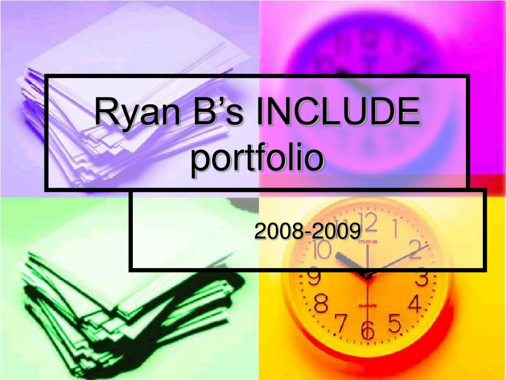 ryan b s include portfolio l.