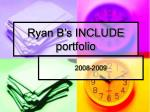 ryan b s include portfolio