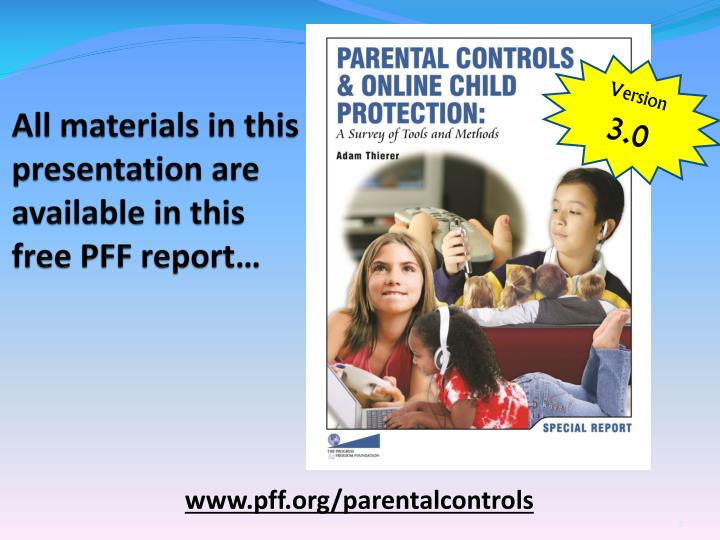 All materials in this presentation are available in this free pff report