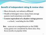benefit of independent rating review sites
