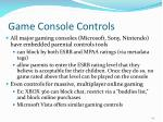 game console controls