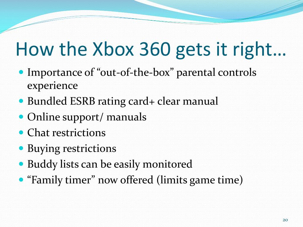 How the Xbox 360 gets it right…