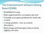 the entertainment software rating board esrb