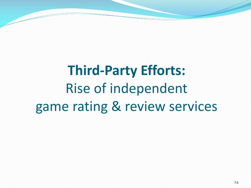 Third-Party Efforts: