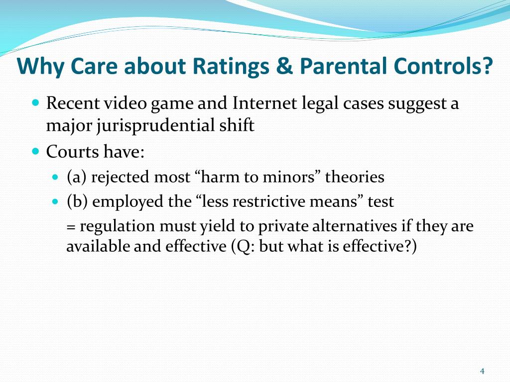 Why Care about Ratings & Parental Controls?