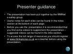 presenter guidance