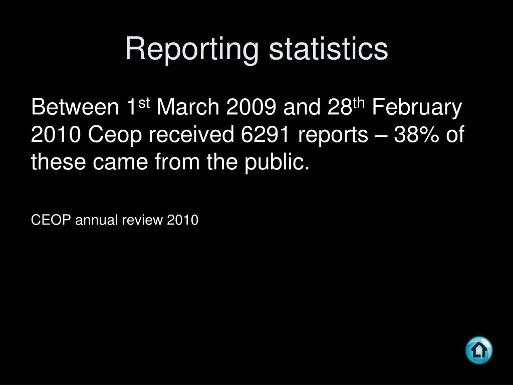Reporting statistics