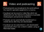 video and podcasting21