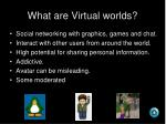 what are virtual worlds