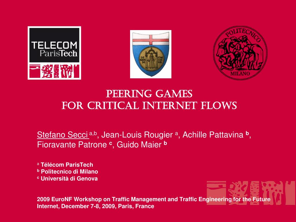 peering games for critical internet flows l.