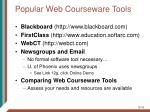 popular web courseware tools16