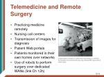 telemedicine and remote surgery