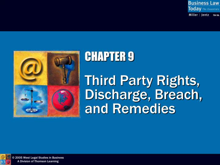 Chapter 9 third party rights discharge breach and remedies